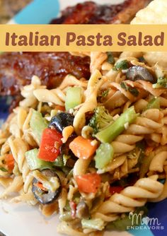 Italian pasta salad - great side dish to feed a crowd!