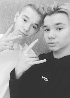 Martinus and Marcus Gunnarsen in a selfie in December 2017...
