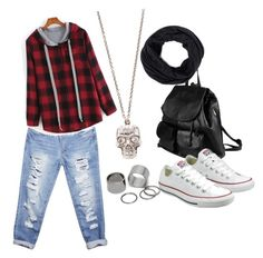 """Casual outfit"" by jazzie-jjj on Polyvore featuring PARENTESI, Pieces, Alexander McQueen, Wet Seal, Converse, comfy, easy and beoriginal"