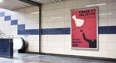 Affiche pour le TNT - théâtre, poster, paper cut, papier découpé,