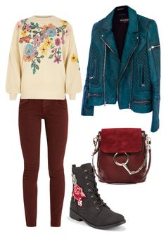 """Без названия #15"" by karina-bulgakova on Polyvore featuring мода, The Great, Qupid, River Island, Chloé и Balmain"
