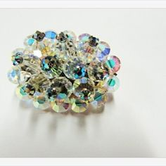 #Vintage AB #Crystal #Brooch #jewelry