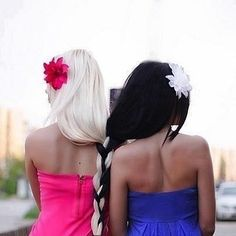 Braid your hair together like sisters.   37 Impossibly Fun Best Friend Photography Ideas