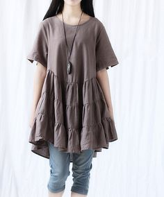Lovely big swing Cotton Doll Dress by MaLieb on Etsy, $79.00