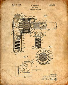 Patent Print of a Hair Drier Patent Art Print by VisualDesign