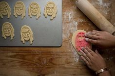 Make your friend personalized face cookies for their birthday!