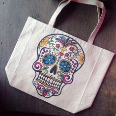 Sugar Skull Tote - $20.00