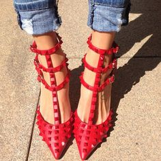 This is about to happen... New shoes always make you happy... #valentino
