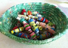How to make your own beads.  Great for use in art, bookmarks, jewellery, card-making, etc.