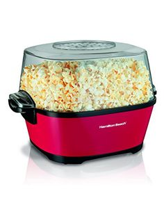 Make a favorite movie theater treat at home in just minutes. The Hamilton Beach Hot Oil Popcorn Popper is easy to use. Simply add kernels and your choice of oil, plug it in and let the fun begin. Everyone can have their own bowl of popcorn as this popper Popcorn Cart, Popcorn Kernels, Popcorn Maker, Best Microwave Popcorn, Traditional Taste, Food Porn, Pop Corn, Roasted Nuts, Hamilton Beach