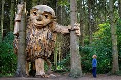 Artist builds wooden giants for 'sculpture treasure hunt' near Copenhagen Ohio State Parks, Hiking Places, Forest Trail, Local Parks, Welcome To The Jungle, Nature Center, Recycled Wood, Land Art, Wooden Diy