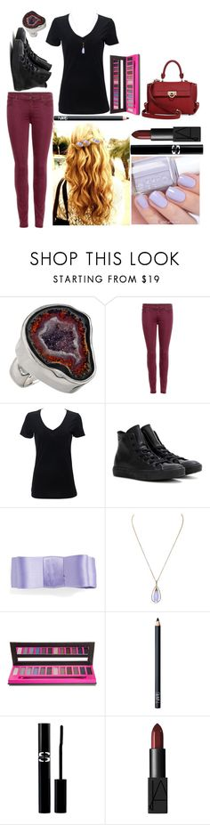 """""""Megan: August 30, 2016"""" by disneyfreaks39 ❤ liked on Polyvore featuring Charles Albert, 7 For All Mankind, Converse, L. Erickson, Essie, Bellápierre Cosmetics, NARS Cosmetics, Sisley Paris and Salvatore Ferragamo"""