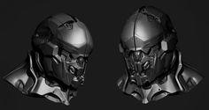 ArtStation - Amarr Helmet, Andrei Cristea