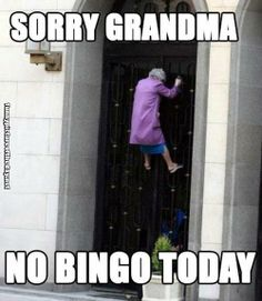 Sorry Grandma No Bingo Today Funny Old Lady In Russia Climbing Gate