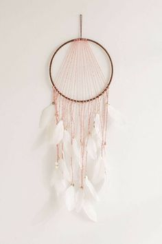 URBAN OUTFITTERS Neon Dream Catcher Feathers Macrame Wall Art White/Peach I was thinking about dream catchers because recently my sister made me one and send it down. What's the history behind a dream catcher? Dream Catcher Bedroom, Diy Dream Catcher For Kids, Homemade Dream Catchers, Doily Dream Catchers, Dream Catcher Decor, Dream Catcher Mobile, Dream Catcher White, Feather Dream Catcher, Dreams Catcher
