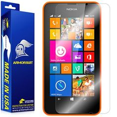 ArmorSuit MilitaryShield  Nokia Lumia 630  Nokia Lumia 635 Screen Protector AntiBubble Ultra HD  Extreme Clarity  Touch Responsive Shield with Lifetime Free Replacements  Retail Packaging -- Click image to review more details.