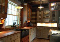 St. Louis 10 primitive Log Cabin Kitchen Bar Bathroom Vanities - traditional - kitchen - cincinnati - The Workshops of David T. Smith