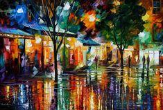NIGHT SHOPS - LEONID AFREMOV by ~Leonidafremov on deviantART