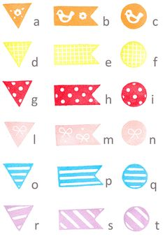 3 pcs hand carved rubber stamps washi tape AT CHOICE | via Etsy.