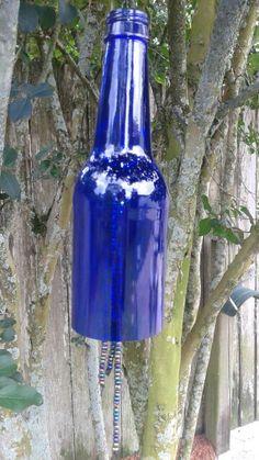 Mini Blue Beaded Wind Chime