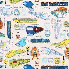 Shinkansen Train Fabric by Kobayashi