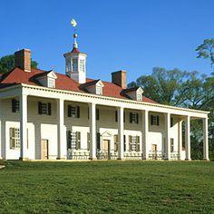 Mount Vernon (Virginia) Home of America's first president - George Washington .