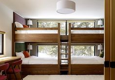 Sugarbowl Residence (California) - I'm pretty sure that I've never lusted after bunk beds before.