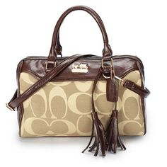#CoachOutletStore Coach Legacy Haley Medium Khaki Satchels BAW Have A Treat Reputation All Over The World At Lowest Price!