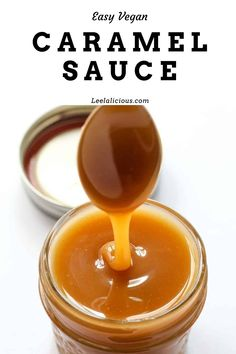 Learn how to make this amazing and easy caramel sauce. It is made with coconut sugar + coconut cream so it is dairy-free and paleo friendly. Caramel Sauce With Milk, Caramel Sauce Easy, Homemade Caramel Sauce, Sweet Condensed Milk Caramel, Salted Caramel Sauce, Vegan Caramel, Caramel Recipes, Dairy Free Caramel Sauce Recipe, Coconut Caramel Recipe