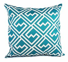Turquoise Decorative Pillows  Two Deep by CastawayCoveDecor