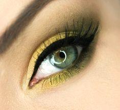 """Olive in the Sunlight"" by gajewska,wiktoria using Makeup Geek eye shadows in Appletini, Corrupt, Dirty Martini, Vanilla Bean, White lies, Yellow Brick Road, and Lemon Drop."