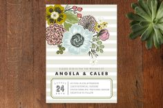 Seed Packet Wedding Invitations by Alethea and Ruth at minted.com. I like the striping, illustrated flowers and name focus. Liking the accentuated date too.