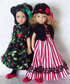 "DRESSES,SWEATER&SHOE SET MADE FOR EFFNER LITTLE DARLING&SIMILAR SIZE 13"" DOLL"
