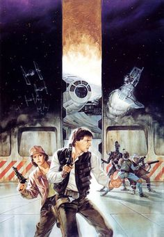 Star Wars - Dark Empire Confrontation on the Smugglers' Moon by Dave Dorman Dark Empire, Star Wars Comics, Star Wars Art, Starwars, Star Wars Legacy, Han And Leia, To Infinity And Beyond, Love Stars, Movies