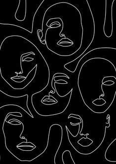 Abstract Face Art, One Line Face Drawing Sketch Modern Illustration Prints, Printable Minimalist Line Art Print, Large Prints Wall Art Decor Tumblr Wallpaper, Wallpaper Backgrounds, Wallpapers, Wallpaper Desktop, Disney Wallpaper, Wallpaper Quotes, Drawing Faces, Art Drawings, Face Line Drawing