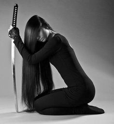 Canvas Wall Art x - Japanese Art Martial Arts Weapons, Martial Arts Women, Warrior Girl, Samurai Warrior, Female Samurai Art, Katana Girl, Female Ninja, Arte Ninja, Ninja Girl