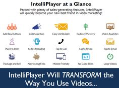 IntelliPlayer is AMAZING Product created by Bill Guthrie. IntelliPlayer is TOP Software to Make Sales, Build Your Email Lists, Look Like a PRO, and Save Money in the Process. IntelliPlayer Packed with plenty of sales-generating features, IntelliPlayer will quickly become your new best friend in video marketing. IntelliPlayer Will TRANSFORM the Way You Use Videos… And remember, this works for Other People's Videos too. The videos don't have to be yours to work with IntelliPlayer. Curate…