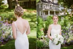 Kennebunkport Maine Wedding Kennebunkport Maine, Wedding Hairstyles For Long Hair, Blonde Color, Long Hair Styles, Wedding Dresses, Fashion, Bride Dresses, Moda, Bridal Gowns