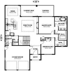 Plan No.195406 House Plans by WestHomePlanners.com