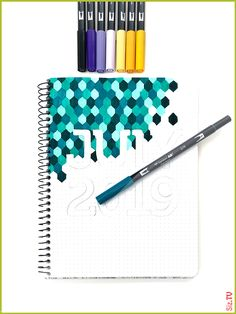 Geometric Task Journal Month Page by Jessica Mack on behalf of Tombow - pro-m . , Geometric Task Journal Month Page by Jessica Mack on behalf of Tombow - pro-m . Bullet Journal Inspo, Bullet Journal Notebook, Bullet Journal Aesthetic, Bullet Journal Themes, Bullet Journal Spread, Grid Notebook, Bullet Journal Month Page, Bullet Journal For School, Bullet Journal Layout Ideas