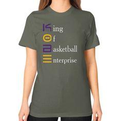 King of b ball enterprise kobe tee Unisex T-Shirt (on woman)