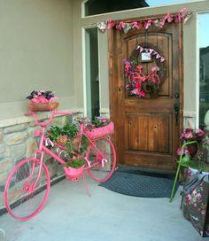 Adventures of a BusyBee: FLOWERING GARDEN BIKE and Porch Design