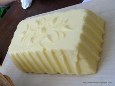 Swiss butter in the Alps looks like the kind my grandmother made with her wooden butter mold! My great grandmother kept the butter cool in the stream near her home!