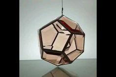 Geometric Glass Artwork and Glass Pendant Lighting