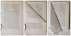 Il a fallu environ 200 pages d'un vieux livre avec des pages assez lourdes l'ensemble est stable. Retirer la couverture du livre et commencer le pliage de la feuille par feuille, de la manière décrite  Lorsque vous avez terminé, vous coupez juste à côté du reste des feuilles (si vous ne l'avez pas utilisé la totalité du livre), et le clip de la première à la dernière feuille pliée.