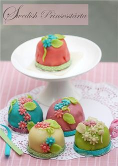Not quite the original...but looks like a lot of fun!  Swedish Prinsesstårta, princess cupcakes