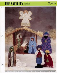 The Nativity ~ Stable & Manger Scene, Annie's plastic canvas patterns #AnniesAttic