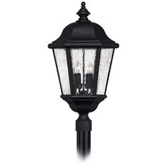 """Edgewater Collection Black 27"""" High Outdoor Post Light - #99084 