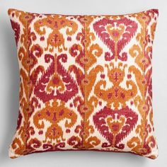 One of my favorite discoveries at WorldMarket.com: Orange and Pink Taza Throw Pillow