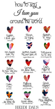"How to Say ""I love you"" around the  world!"
